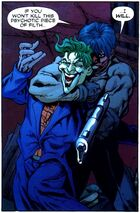 Jason Todd threatens to kill the Joker
