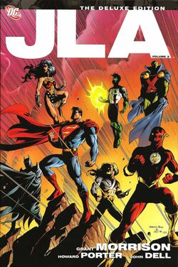 Cover for the JLA: The Deluxe Edition, Vol. 3 Trade Paperback