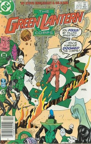 Cover for Green Lantern Corps #223 (1988)