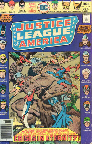 Cover for Justice League of America #135 (1976)