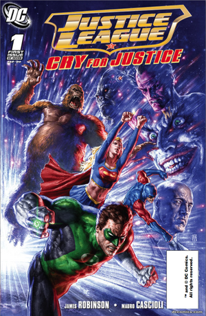Cover for Justice League: Cry for Justice #1 (2009)