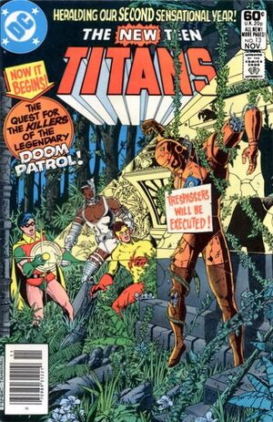 Cover for New Teen Titans #13 (1981)