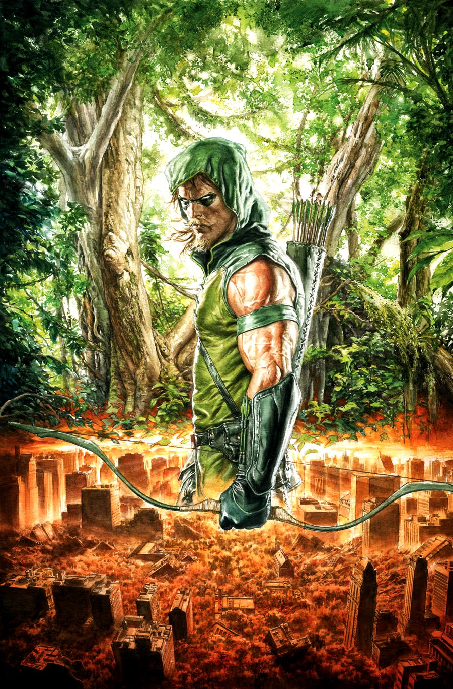 green arrow oliver queen dc database fandom powered by wikia