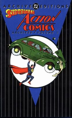 Cover for the Superman: The Action Comics Archives Vol. 1 Trade Paperback