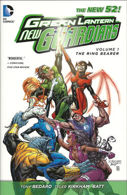 Cover for the Green Lantern: New Guardians: The Ring Bearer Trade Paperback