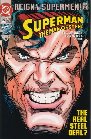 Cover for Superman: Man of Steel #25 (1993)