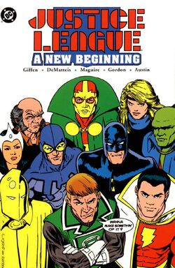 Cover for the Justice League: A New Beginning Trade Paperback