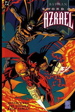 Cover for the Batman: Sword of Azrael Trade Paperback
