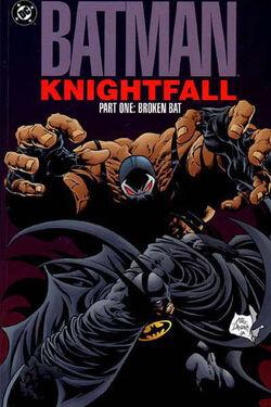 Cover for the Batman: Knightfall Part One - Broken Bat Trade Paperback