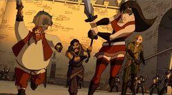 Sif Warriors Three Charge Jotuns TTA