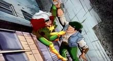 Rogue lifts up a civilain