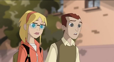 Gwen and Harry watch Peter get rejected
