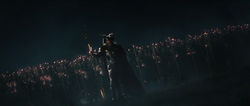 Odin leads the army