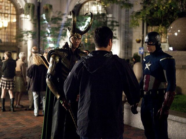 File:Loki and Captain America Behind the Scenes.jpg