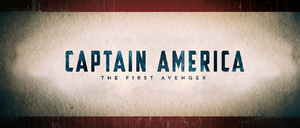Captain America Title Card - The First Avenger