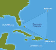 Map of the Bermuda Triangle