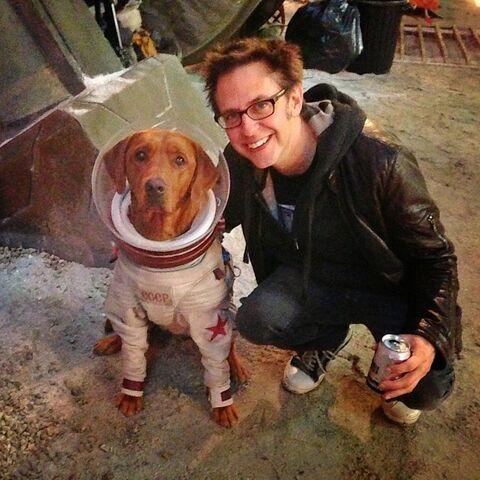 File:Fred the Dog & James Gunn.jpg