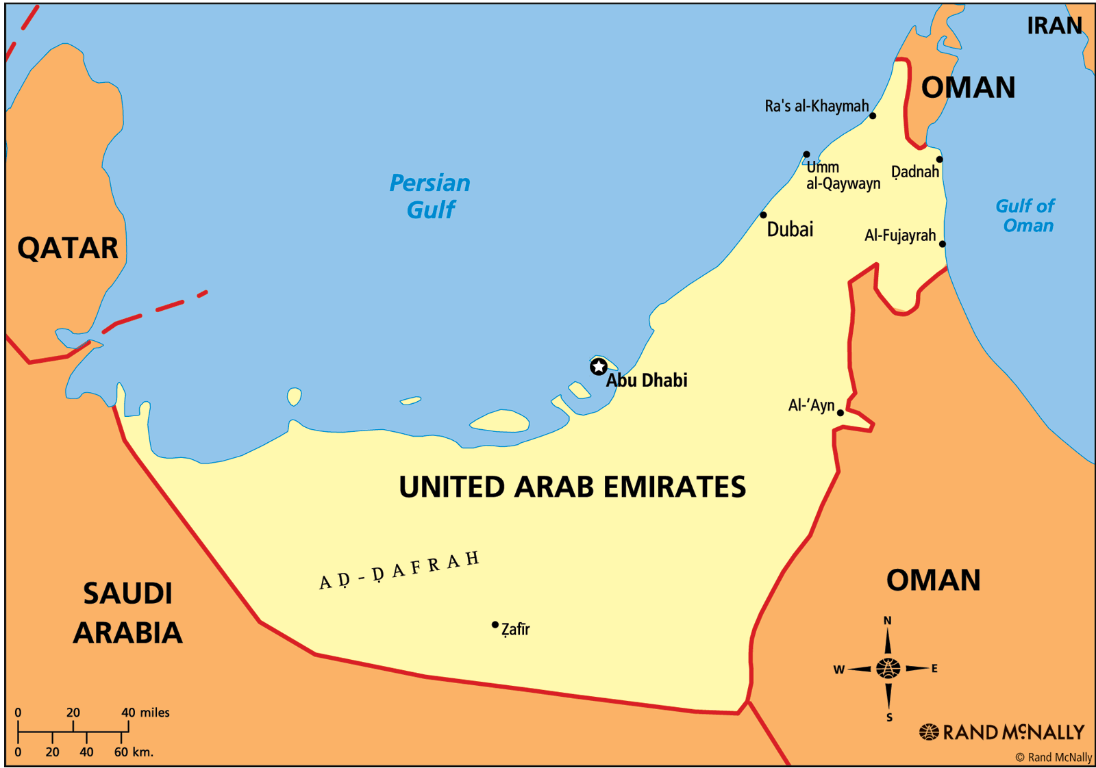 Image Map Of The United Arab Emirates Marvel Cinematic - United arab emirates map