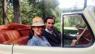 Peggy and Jarvis bts The Lady in the Lake