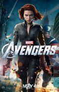 Avengers Poster Black Widow and Captain America