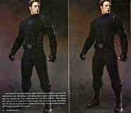 Captain America Black Suit Concept