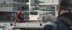 Spider-Man confronts Cap