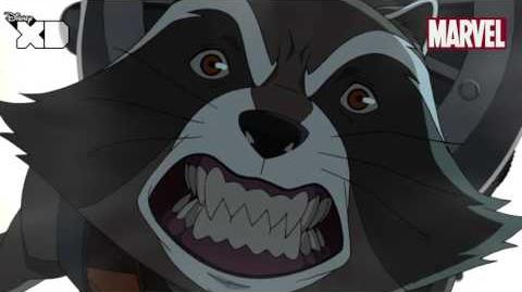 Guardians of The Galaxy Rocket Raccoon Part 2 Official Disney XD UK