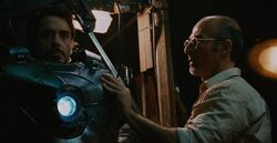 Anthony Stark (Earth-199999) and Ho Yinsen (Earth-199999) from Iron Man (film) 001