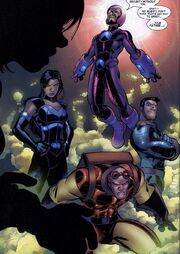 Frightful Four (Earth-616) Wizard, Salamandra, Hydroman and the Trapster from Fantastic Four Vol 1 514