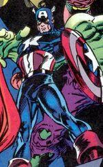 Captain America (Taskmaster Robot) (Earth-616) Hawkeye Earth's Mightiest Marksman Vol 1 1