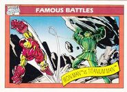 Anthony Stark vs. Boris Bullski (Earth-616) from Marvel Universe Cards Series I 0001