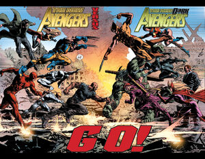 The New Avengers versus The New Dark Avengers