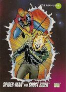 Peter Parker and Daniel Ketch (Earth-616) from Marvel Universe Cards Series III 0001