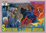 Peter Parker vs. J Jonah Jameson (Earth-616) from Marvel Universe Cards Series II 0001
