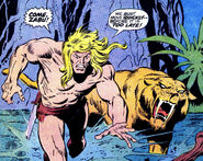 Kevin Plunder (Earth-616) and Zabu (Earth-616) from Astonishing Tales Vol 1 9 001