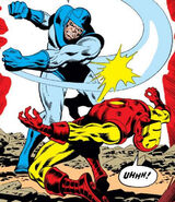 Basil Sandhurst (Earth-616) and Anthony Stark (Earth-616) from Iron Man Vol 1 90 0001