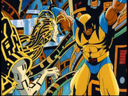 Cameron Hodge (Earth-92131) & Wolverine (Earth-92131)