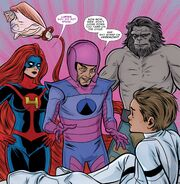 Frightful Four (Earth-616) Medusa, Wizard, Blastaar, and Bentley-23 from FF Vol 2 5