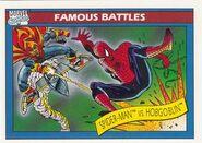 Peter Parker vs. Jason Macendale Jr. (Earth-616) from Marvel Universe Cards Series I 0001