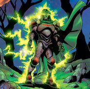 Victor von Doom (Earth-616) and Doctor Doom's Mystical Armor from Fantastic Four Vol 3 69 0001