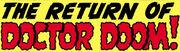 Fantastic Four Vol 1 10 Title