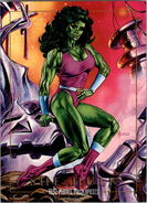 Jennifer Walters (Earth-616) from Marvel Masterpieces Trading Cards 1992 0001