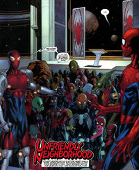 Marvel Comics Presents Vol 2 1 page 19-20 Galactic Alliance of Spider-Men (Earth-616)