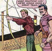 Hawkeye krijgt les van Swordsman (Avengers -19).jpg