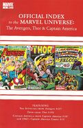 Avengers Thor & Captain America Official Index to the Marvel Universe Vol 1 4