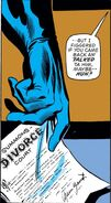 Reed Richards (Earth-616) receives divorce papers in Fantastic Four Vol 1 147