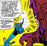 Reed Richards uses the Ultimate Nullifier from Fantastic Four Vol 1 50