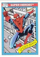 Peter Parker (Earth-616) from Marvel Universe Cards Series I 0002