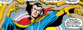 Stephen Strange (Earth-616) endowed with the power of the Ancient One from Strange Tales Vol 1 157