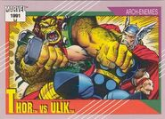 Thor Odinson vs. Ulik (Earth-616) from Marvel Universe Cards Series II 0001